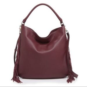 Rebecca Minkoff Oxblood tasseled bag